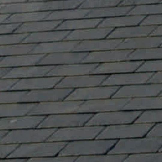 "SSQ International 18"" x 12"" Domiz Seca Grey Roofing Slate Seca Grey"