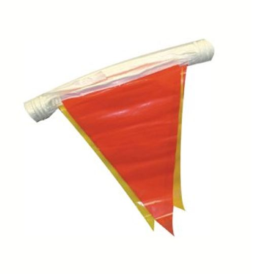 C&R Manufacturing 100' Warning Pennant Flags