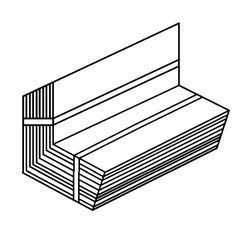 """Klauer Manufacturing Company 8"""" x 8"""" Steel Pre-Bent Step Flashing..."""