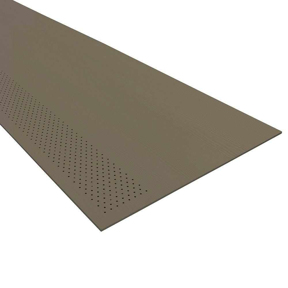 "James Hardie 1/4"" x 12"" x 12' HardieSoffit® Vented-Cedarmill Panel for HardieZone® 5 Iron Grey"