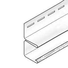 """KP Building Products 3/4"""" x 12'6"""" F-Channel"""