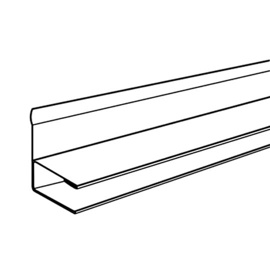 "Alsco Metals 1/2"" Aluminum F-Channel for Double 6"" Soffit White"