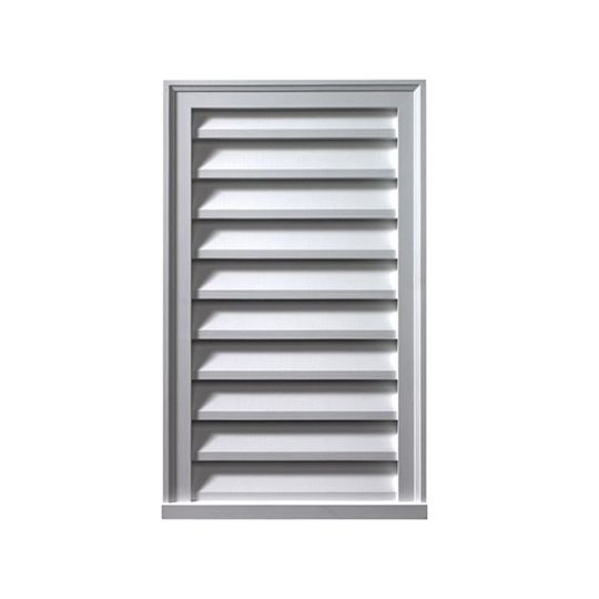 "Fypon Molded Millwork 18"" x 30"" Functional Vertical Louver"