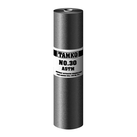 TAMKO No. 30 ASTM D-226 Asphalt Saturated Organic Felt - 2 SQ. Roll