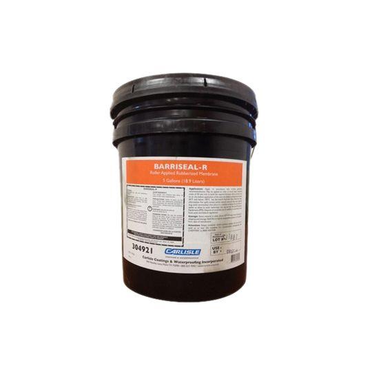 Carlisle Coatings & Waterproofing Barriseal-R Roller-Applied Air & Vapor Barrier - 5 Gallon Pail Dark Brown/Black