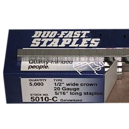 """Duo-Fast 5/16"""" Staples - Box of 5,000"""