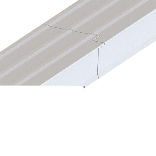 "Quality Edge 28 Gauge x 1-1/4"" x 10' TruEdge Steel T-Style Drip Edge Snowmist"