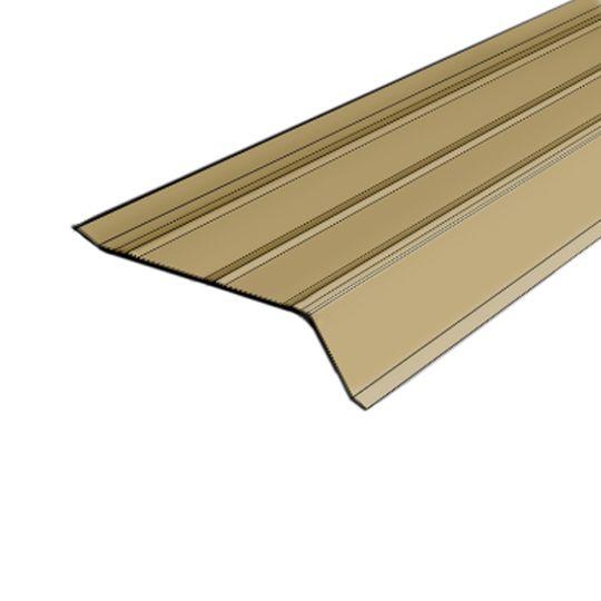 "Quality Edge 28 Gauge x 2"" x 10' Builders Steel Gutter Apron Sandy Beige"
