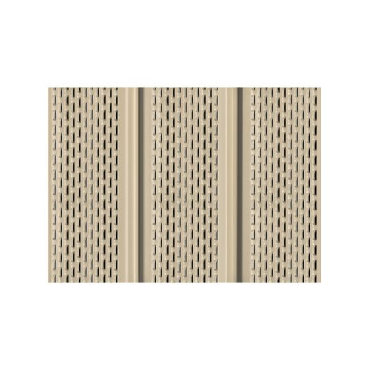 """Quality Edge .016"""" x 12"""" x 12' TruLine® TS-Series Aluminum Fully Vented Soffit Wicker (809)"""