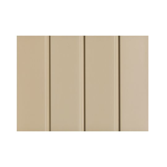 """Quality Edge .019"""" x 16"""" x 12' TruLine® HP-Series Aluminum Solid Soffit Musket Brown"""