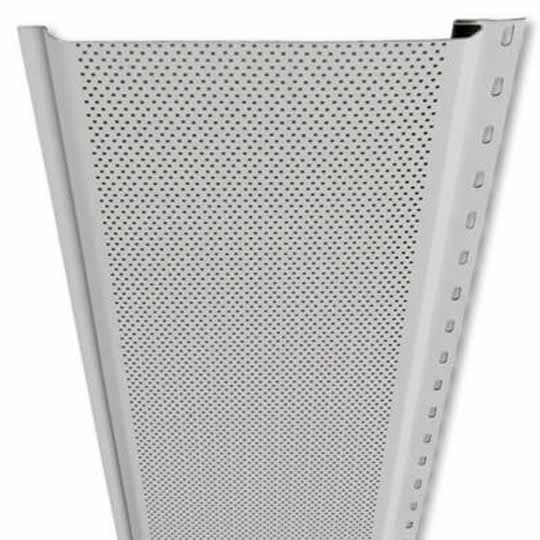 "Mastic Envoy 6"" Perforated V-Groove Aluminum Soffit White"