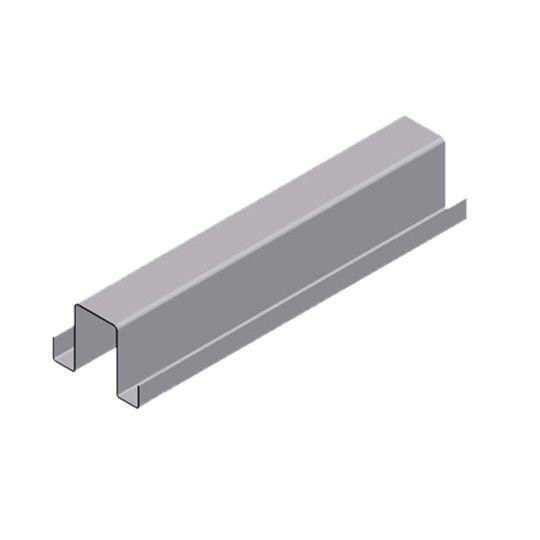 """Atas Metals 18 Gauge 1-1/2"""" x 12' Hat Channel"""