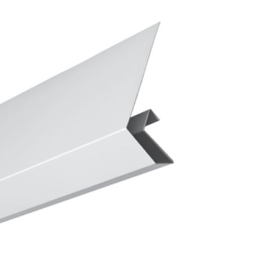 "Quality Edge .024"" x 10' Aluminum Side Cap Rock Maple"