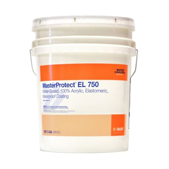 BASF MasterProtect® EL 750 Waterproof Coating - Fine Texture - 5 Gallon Pail Medium Tint Base