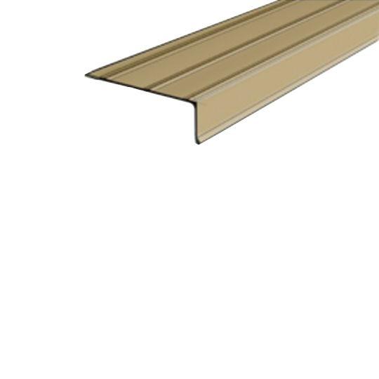 "Quality Edge 28 Gauge x 1"" x 2"" x 10' TruEdge Steel Asphalt Drip Edge Terratone"