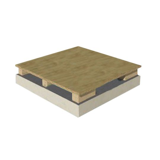 "Hunter Panels 4.6"" x 4' x 8' Cool-Vent Ventilated Nailbase Polyiso Insulation with 5/8"" Plywood"
