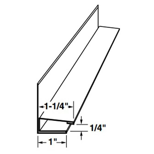 """Mastic 3/8"""" x 1-1/4"""" Aluminum F-Channel with Face Sandtone"""