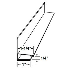 "Mastic 3/8"" x 1-1/4"" Aluminum F-Channel with Face"