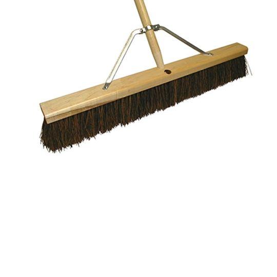 "The Brush Man 30"" Floor Sweep with Palmyra Fill & Heavy-Duty Leg Brace (Roofers Felt Broom)"
