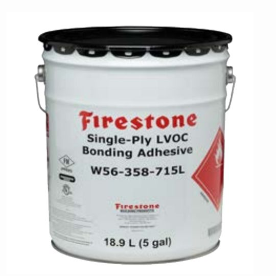 Firestone Building Products Single-Ply LVOC Bonding Adhesive 5 Gallon Pail Yellow
