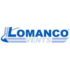 Lomanco Model 750-GS Galvanized Slant Back Static Roof Louver with Screen