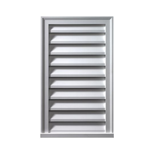 """Fypon Molded Millwork 16"""" x 24"""" Decorative Vertical Louver"""