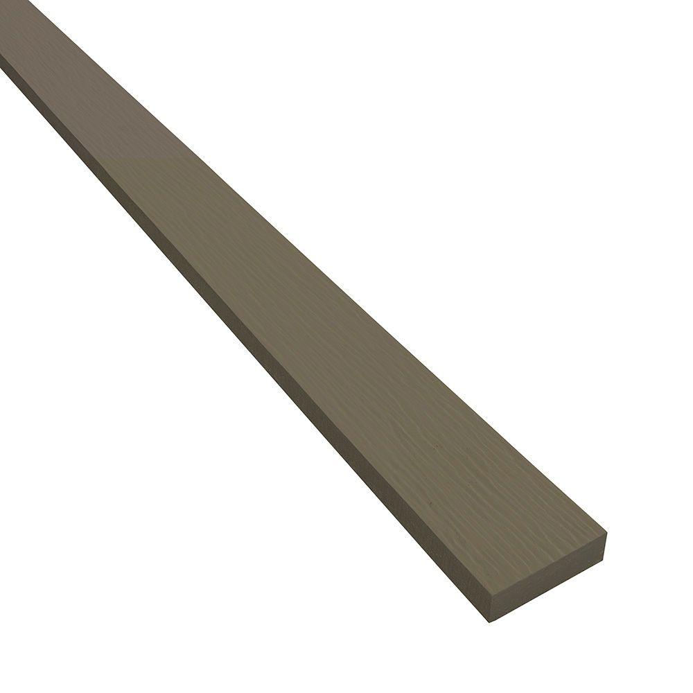 """James Hardie 3/4"""" 2-1/2"""" x 12' HardieTrim® Rustic Grain Batten Board for HardieZone® 5 Light Mist"""