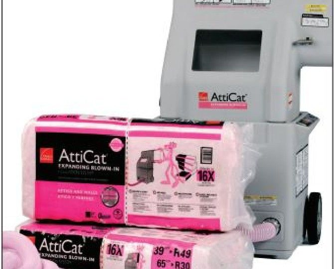 Owens Corning L38A AttiCat® Expanding Blown-In PINK® Fiberglas™ Insulation - 28.5 Lb. Bag