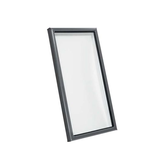 "Velux 25-1/2"" x 49-1/2"" Outside Curb Curb Mounted Skylight with Aluminum Cladding and Laminated Low-E3 Glass White"