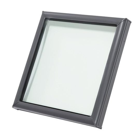 "Velux 49-1/2"" x 49-1/2"" Outside Curb Curb Mounted Skylight with Aluminum Cladding and Laminated Low-E3 Glass White"