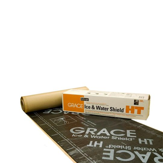"GCP Applied Technologies 36"" x 75' Ice & Water Shield® High Temperature Roofing Underlayment - 2.25 SQ. Roll Grey-Black"