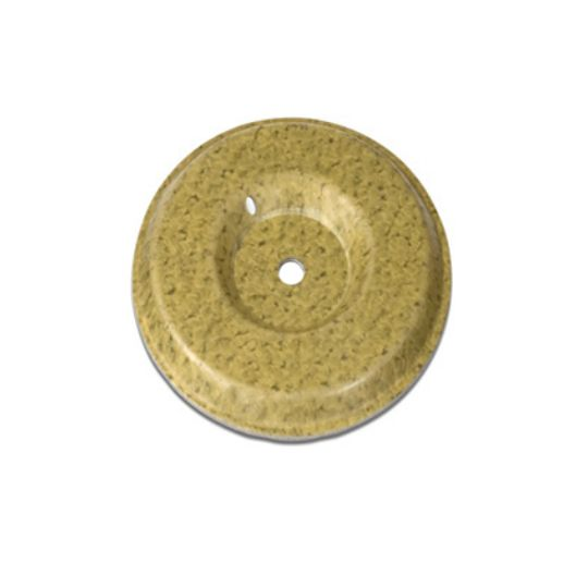 """Firestone Building Products .017"""" to .023"""" 3"""" UltraPly™ TPO Round InvisiWeld™ Plates Pail of 500 Gold/Yellow"""