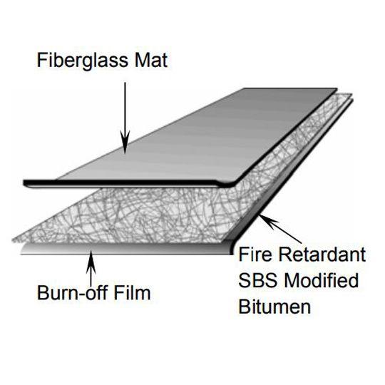 Firestone Building Products SBS Premium FR (Fire-Retardant) Torch Sheet - 1 SQ. Roll White