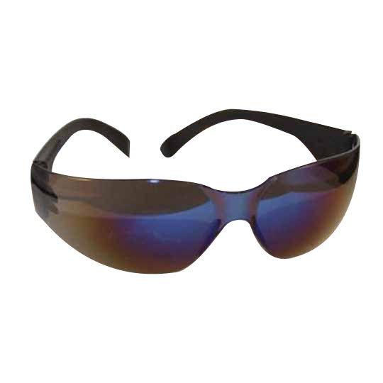 C&R Manufacturing Storm Safety Glasses Black Frame/Blue Mirror Lens