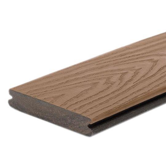 "Trex 1"" x 6"" x 20' Transcend® Grooved-Edge Boards Lava Rock"