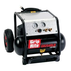 Grip-Rite 4 Gallon 2.5 HP Low RPM (1,725 RPM) Single Tank Compressor