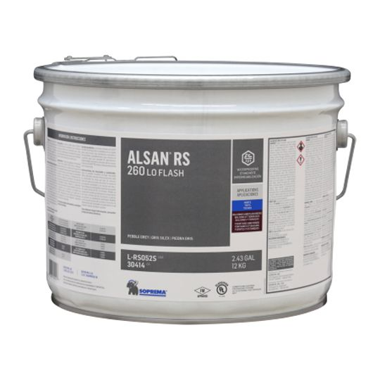 Soprema ALSAN® RS 260 LO (Low-Odor) Flash - 4.4 Gallon Pail Pebble Grey