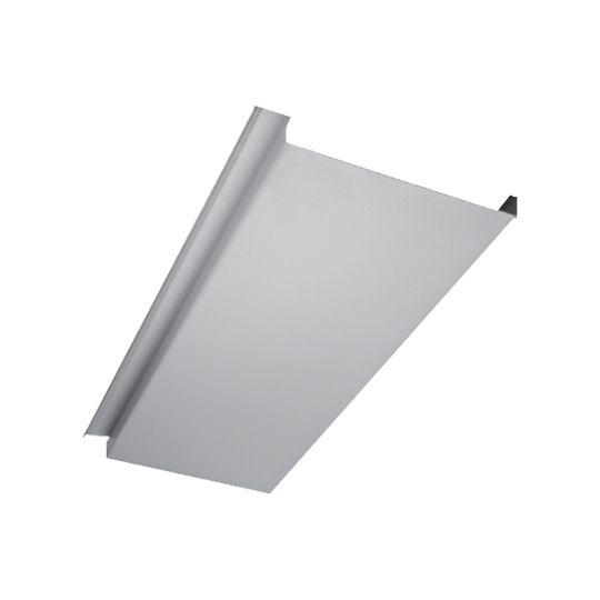 "Quality Edge .024"" x 12' InsideOut Aluminum UnderDecking Panel Pewter"