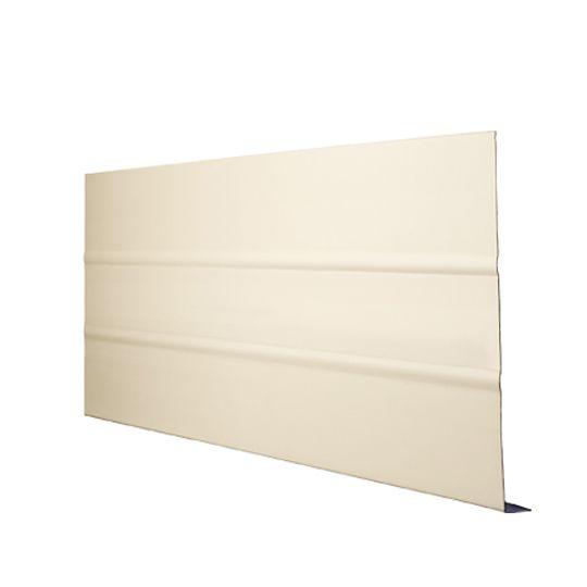 "Quality Edge .019"" x 6"" x 12' TruLine® TS-Series Aluminum Ribbed Fascia Desert Tan"