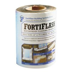 "Fortifiber 25 mil x 4"" x 75' FortiFlash® Waterproof Flashing Membrane"