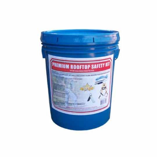 C&R Manufacturing Safety Kit in a Bucket with Reusable Peak Anchor Blue