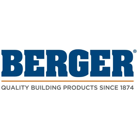 "Berger Building Products 6"" x 4' K-Style Diamond Gutter Shield - Carton of 25 White"