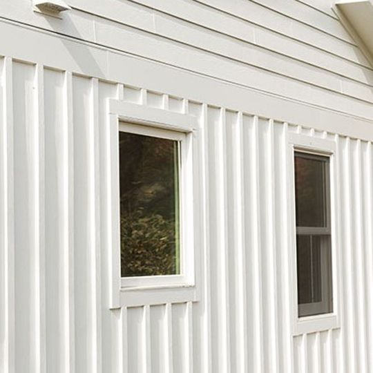 "Nichiha Fiber Cement 5/16"" x 4' x 8' Smooth Vertical Siding Primed"