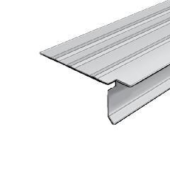 "Quality Edge 1-1/2"" x 10' TruEdge XT Aluminum Pre-Notched T-Style Drip Edge"