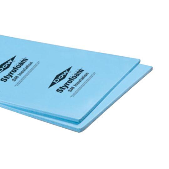 "DOW 2"" x 4' x 8' Blue Board Square Edge Rigid Foam Insulation"