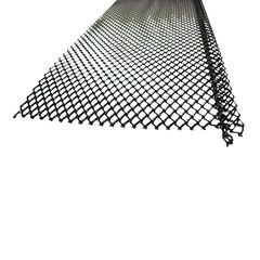 "US Aluminum 5"" Ultra Flo Small Hole Steel Powdered Coated Gutter Screen"