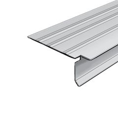 """Quality Edge 30 Gauge x 1"""" T-Style Steel Pre-Notched Drip Edge"""