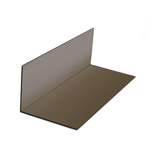 "Quality Edge 30 Gauge x 4"" x 4"" x 8"" Pre-Bent Steel Step Flashing - Box of 100 Mill Finish"