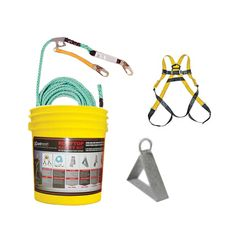 DOT Metal Products Roof Top Residential Fall Protection Kit