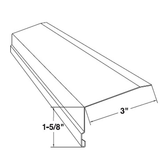 Mastic Rectangular Roof Apron Sandtone